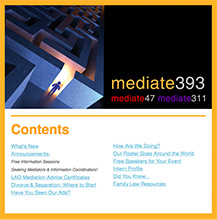 Mediate Newsletter Preview